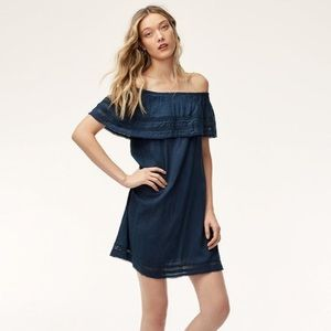 ARITZIA WILFRED EMMIE OFF THE SHOULDER DRESS